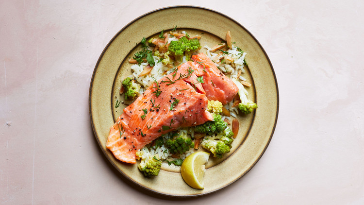 Wild Salmon and Romanesco Pilaf