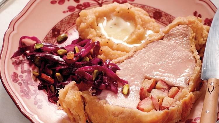 Sweet-and-Sour Red Cabbage with Raisins and Pistachios