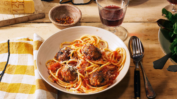 "Spaghetti and Eggplant ""Meatballs"" recipe"