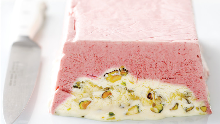 Strawberry Pistachio Semifreddo