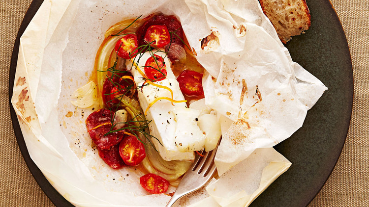 Spanish Cod with Chorizo and Fennel