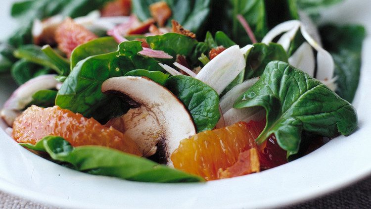 Spinach Salad with Fennel and Blood Oranges