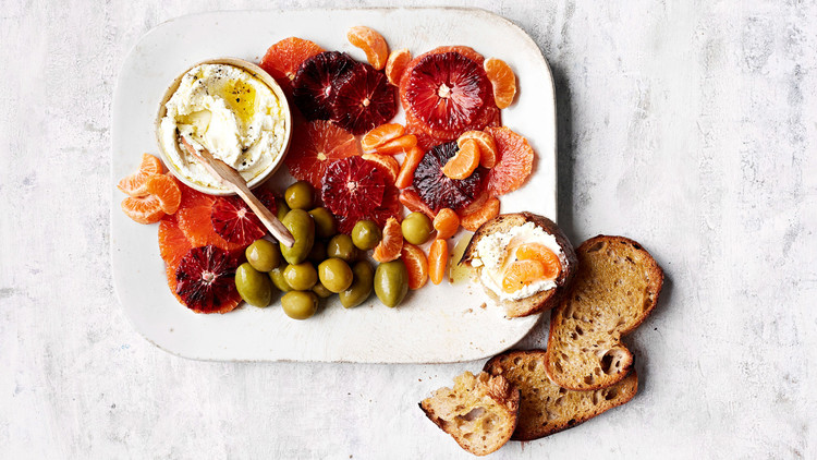 Citrus and Green Olives with Goat Cheese Lauryn Tyrell
