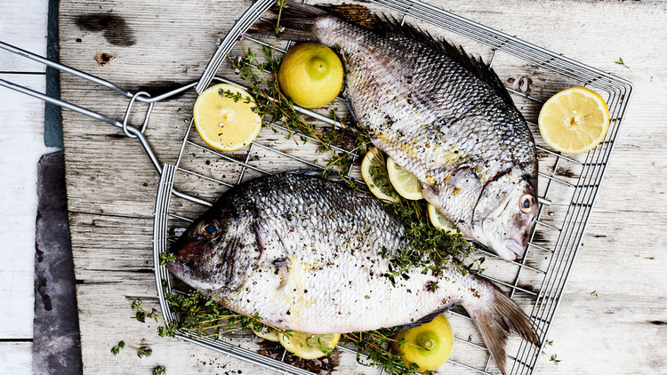 Grilled Whole Fish with Lemon and Thyme
