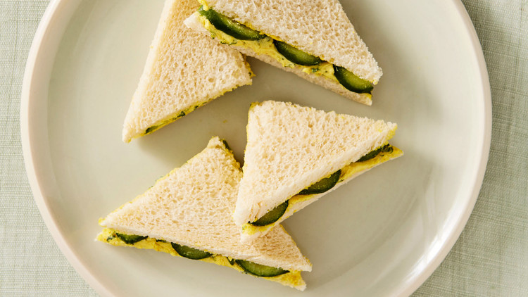 Curried-Egg Butter Tea Sandwiches