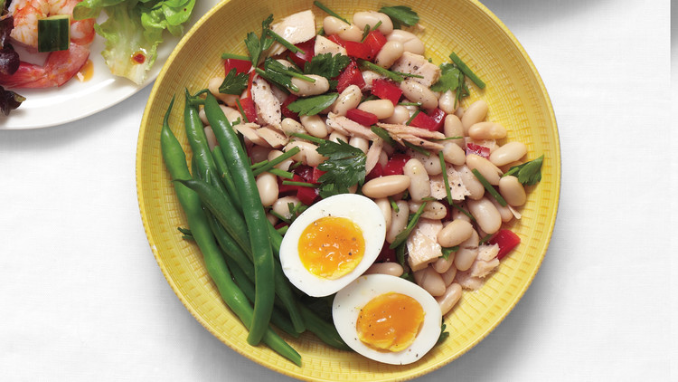 Tuna and White Bean Salad with Eggs