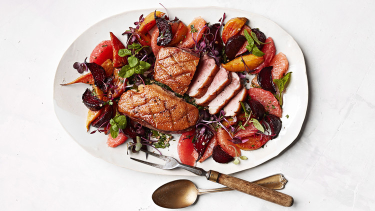 Warm Duck Salad with Caramelized Beets Lauryn Tyrell