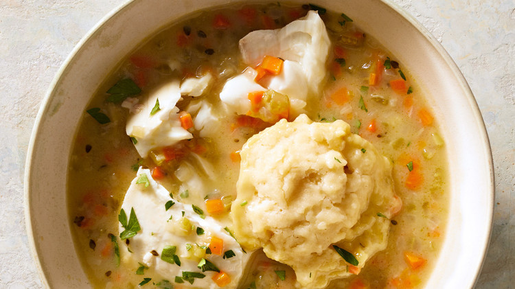 White-Fish Stew with Dumplings