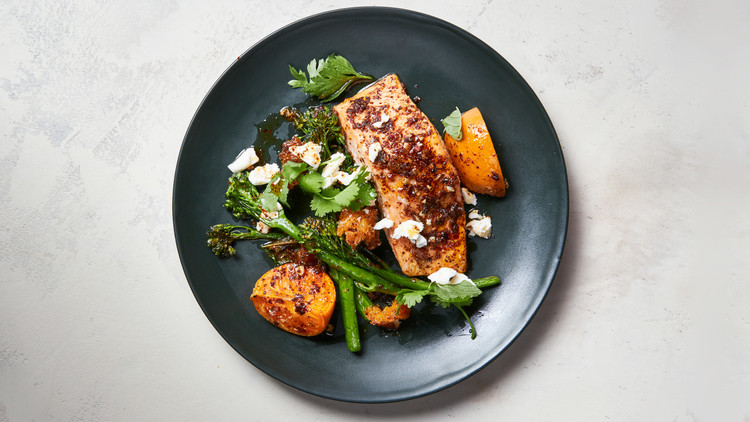Sumac-Dusted Salmon with Broccolini