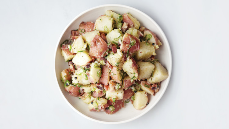 Herbed Potato Salad with Bacon and Scallions