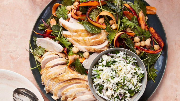 Roasted Chicken With Cauliflower Tabbouleh