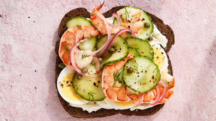 Scandinavian Shrimp-and-Cucumber Sandwich