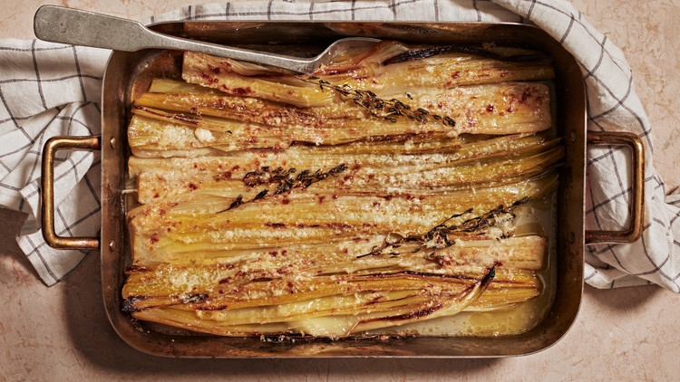 Buttery Leeks with Parmesan and Thyme recipe
