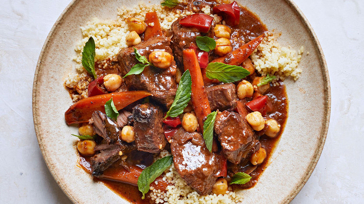 Spiced Beef Stew with Carrots and Chickpeas