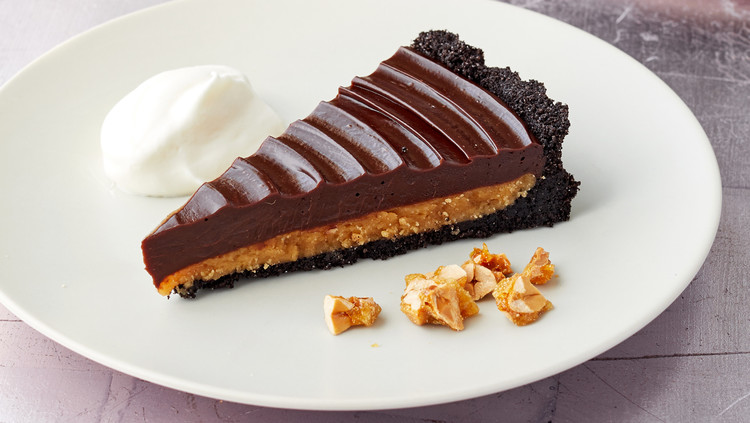chocolate peanut butter tart martha bakes