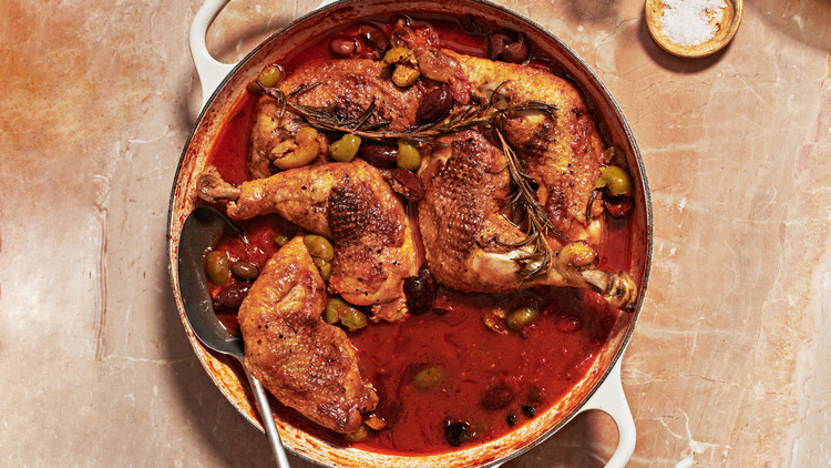 Rosemary Chicken with Tomatoes and Olives recipe