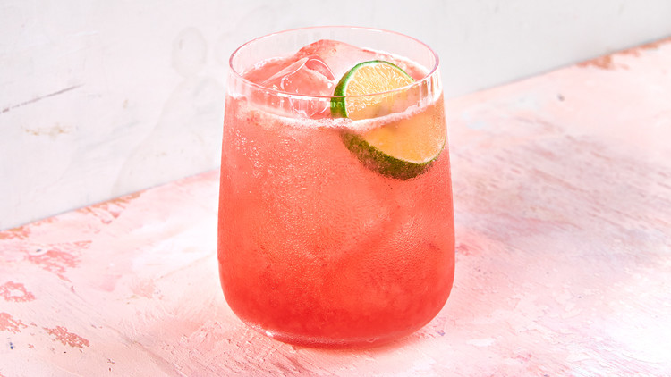 Roasted Rhubarb-and-Cherry Gimlet