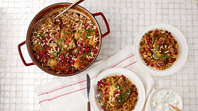 Mixed-Grain Pilaf with Chicken