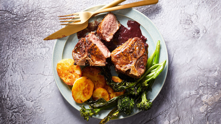 Pepper-Crusted Lamb with Roasted Vegetables Shira Bocar