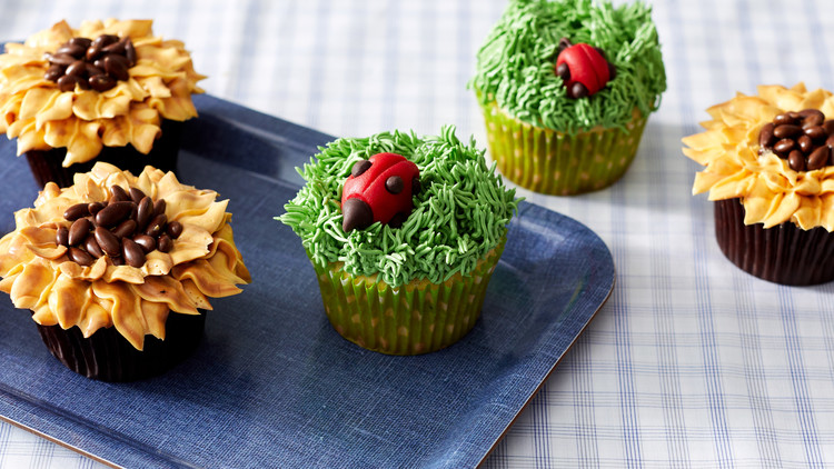 Martha's Sunflower Cupcakes