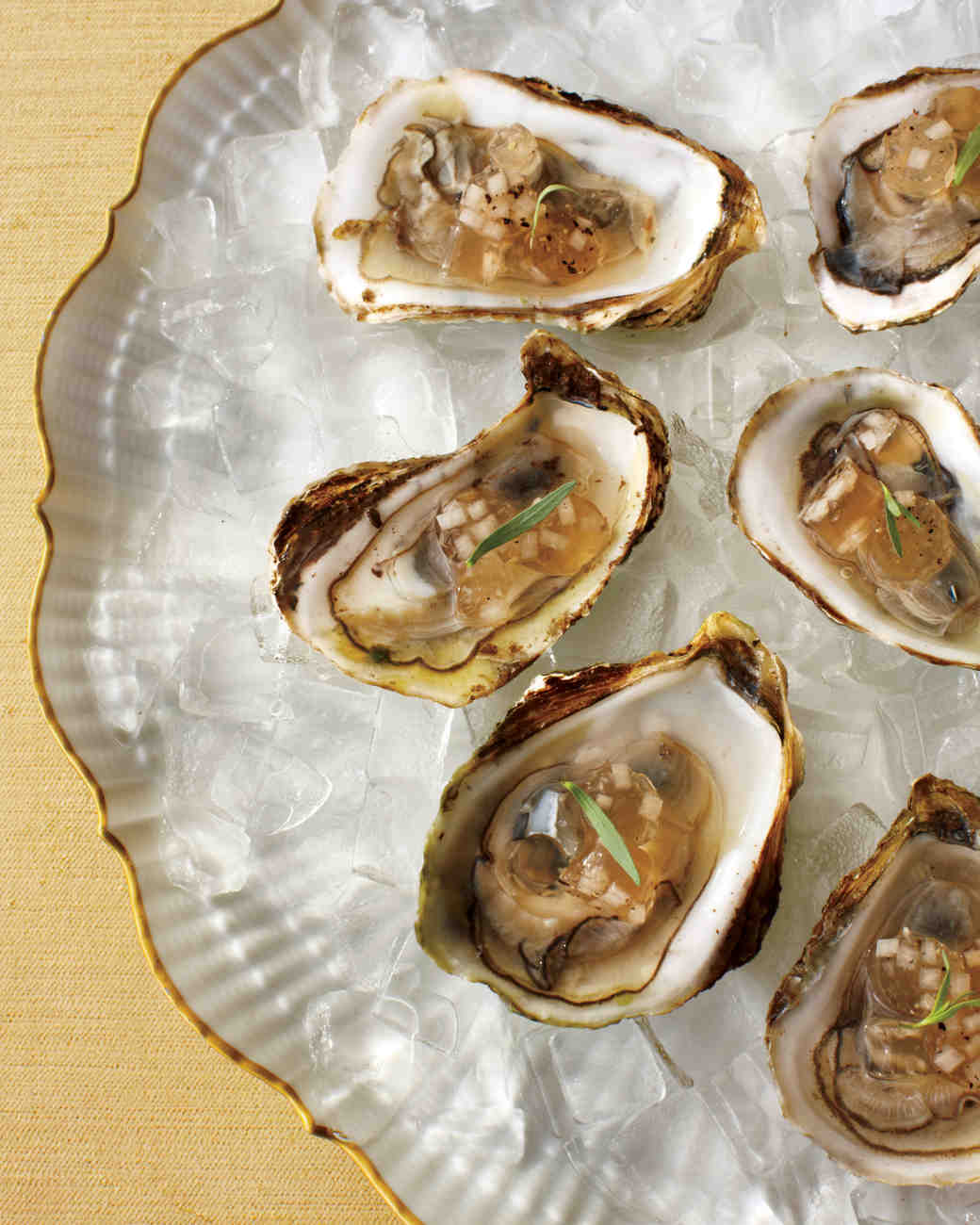 Raw Oysters with Mignonette Gelee