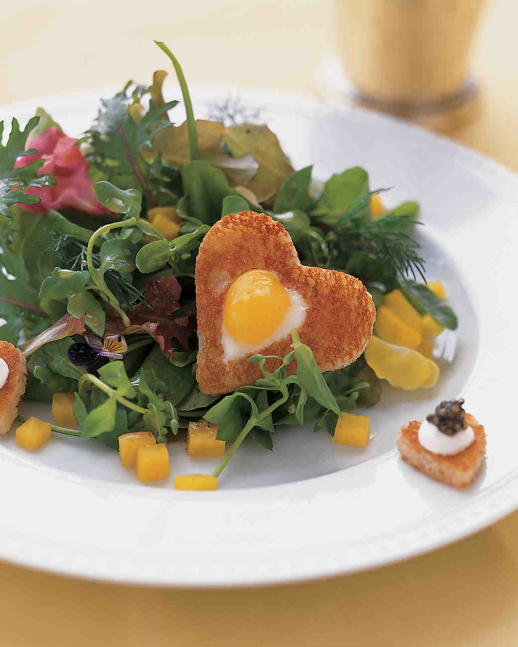 Mesclun-and-Beet Salad with Quail Eggs
