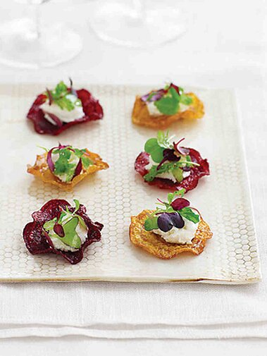 Beet And Goat Cheese Salad Hors D Oeuvres Martha Stewart Weddings