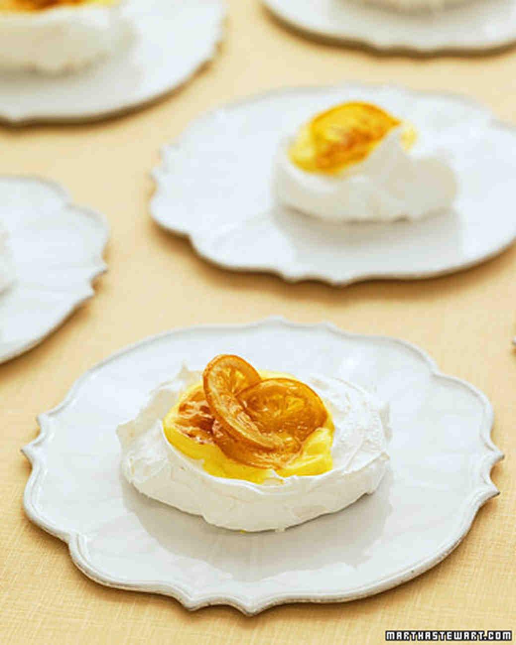 Lemon Pavlovas