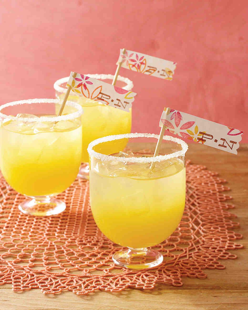 Passion-Fruit Margaritas