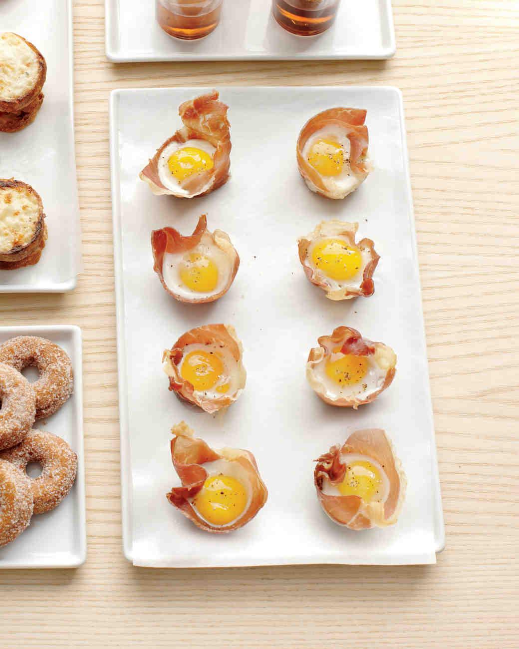 Mini Quail Eggs in Prosciutto Nests