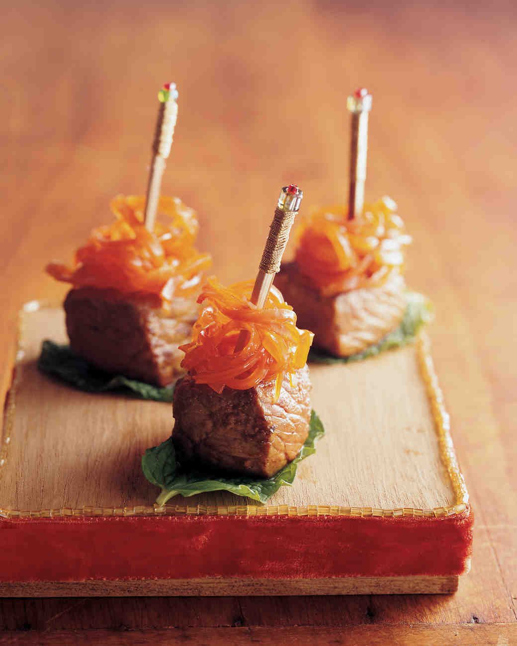 Seared Moroccan Lamb with Honey-Glazed Carrots