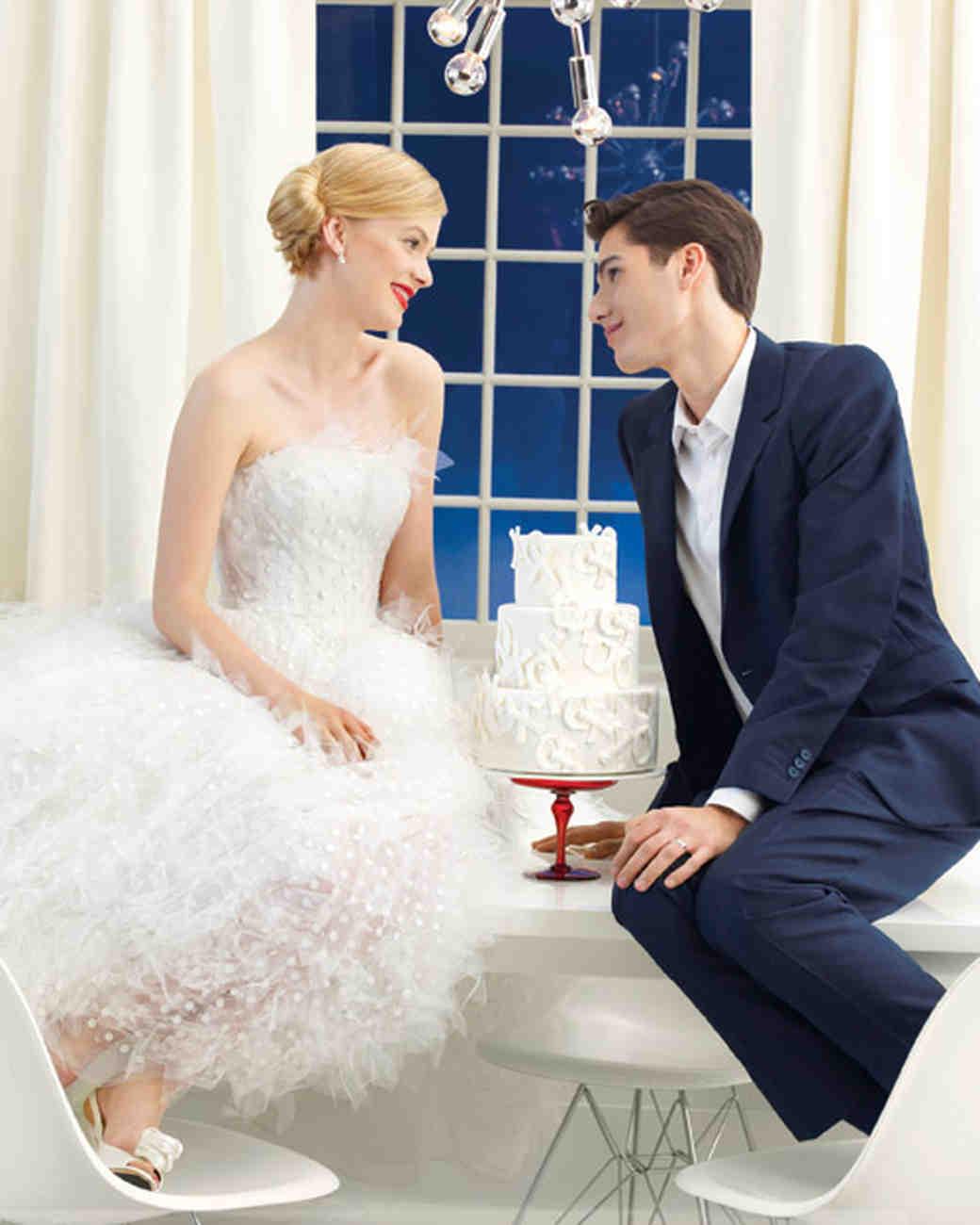 XOXO Wedding Cake Assembly