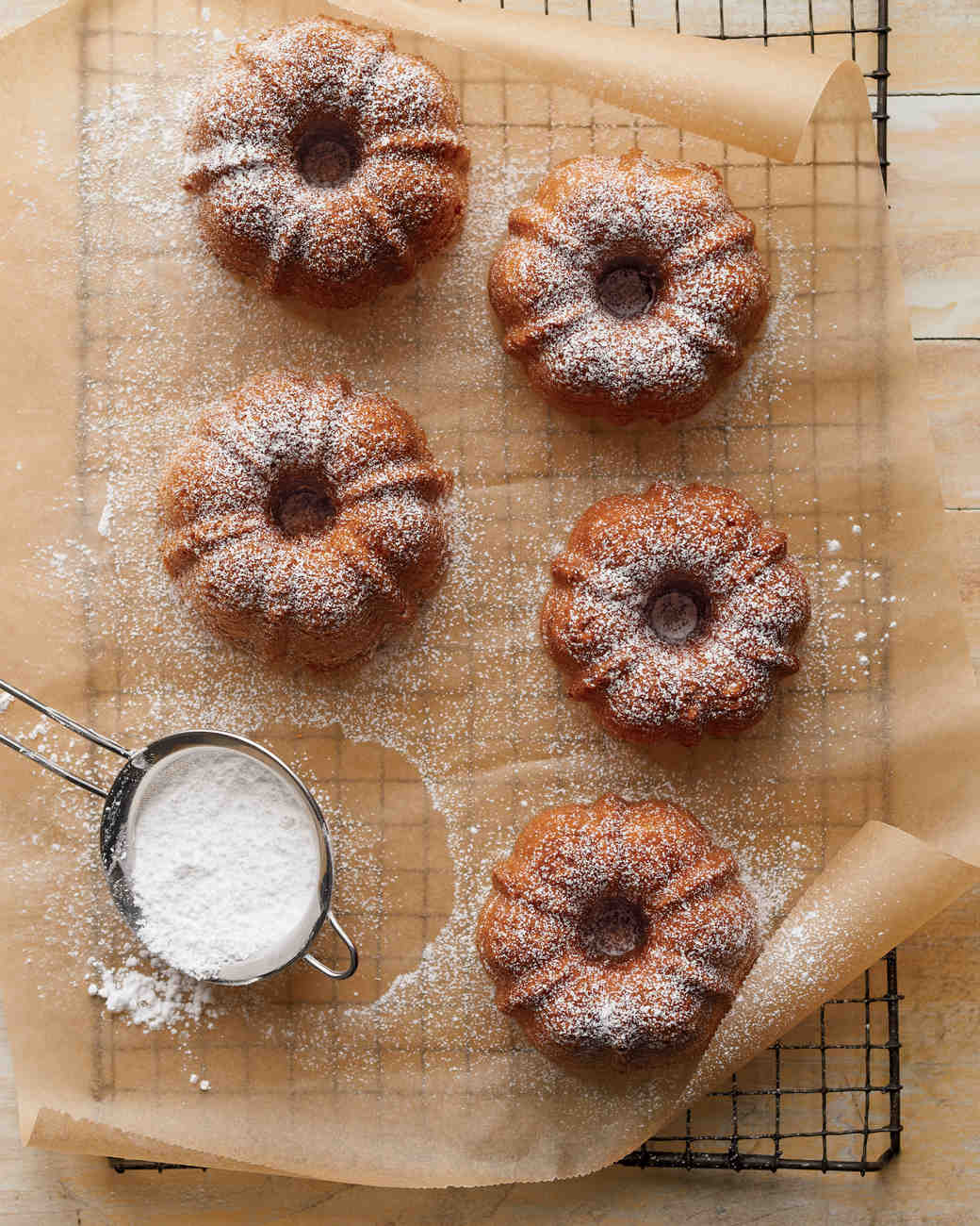 Olive Oil-Anise Mini Bundt Cakes
