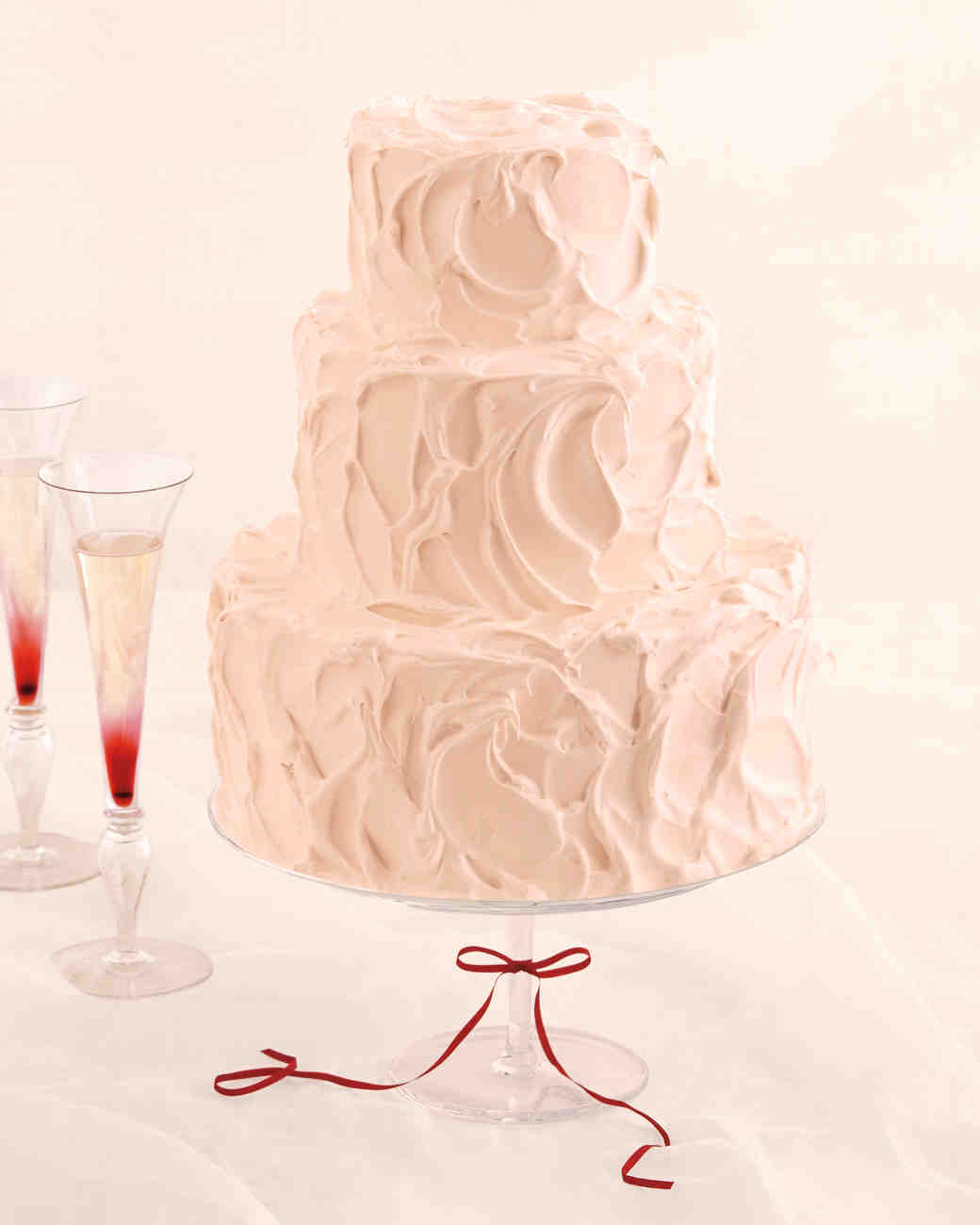 Champagne Cake with Black-Currant Swiss Meringue Buttercream and Red-Currant Swiss Meringue