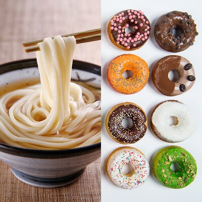 Image result for noodles and donuts