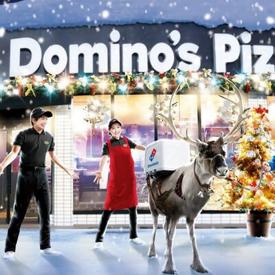 Is Dominos Open On Christmas.Reindeer Will Be Delivering Domino S Pizza In Japan Food