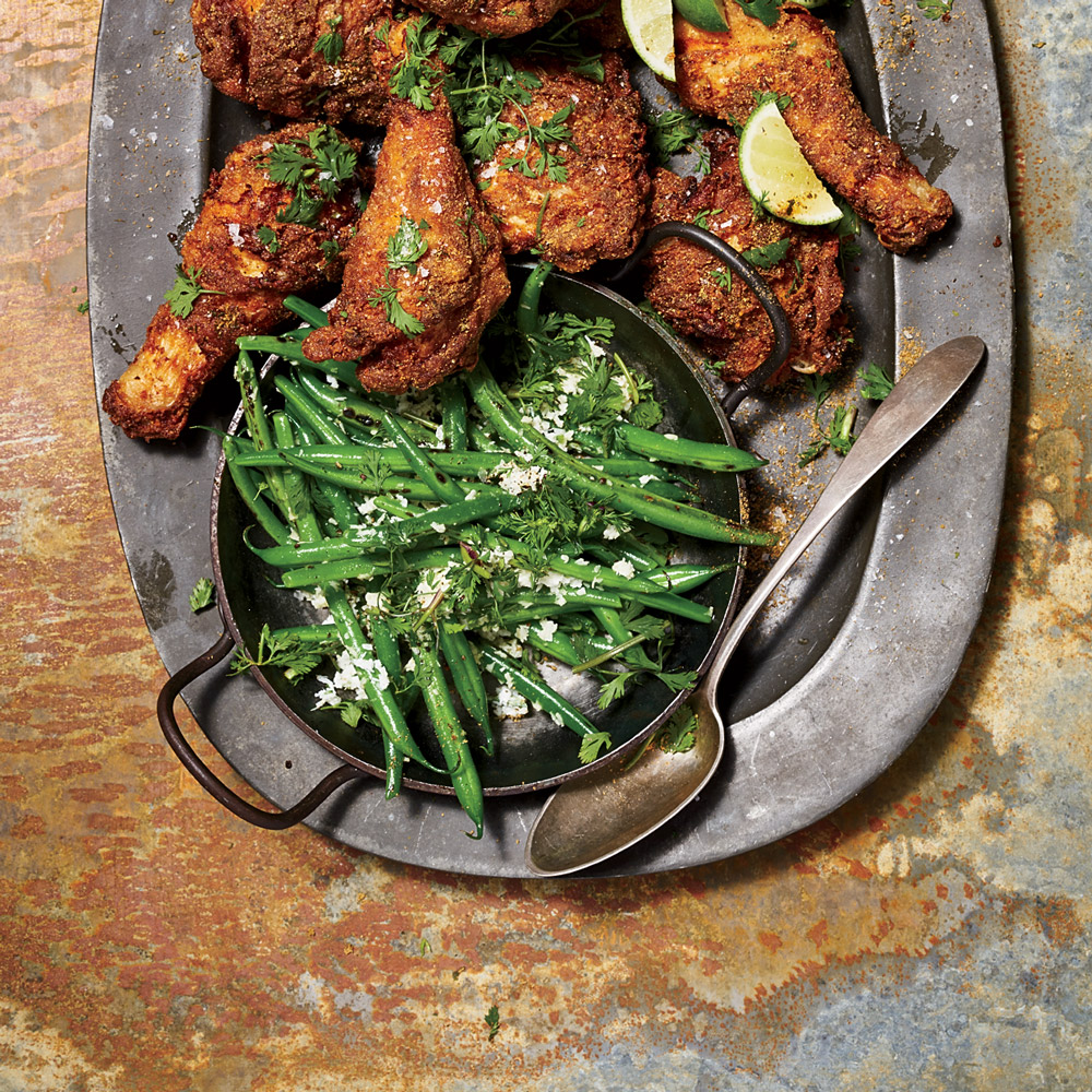 Charred Coconut Green Beans