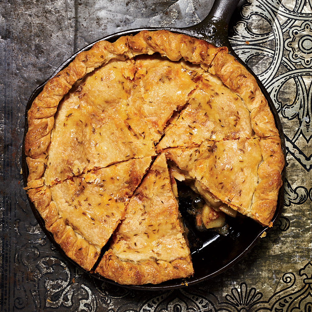 Cumin-and-Jaggery-Glazed Apple Pie