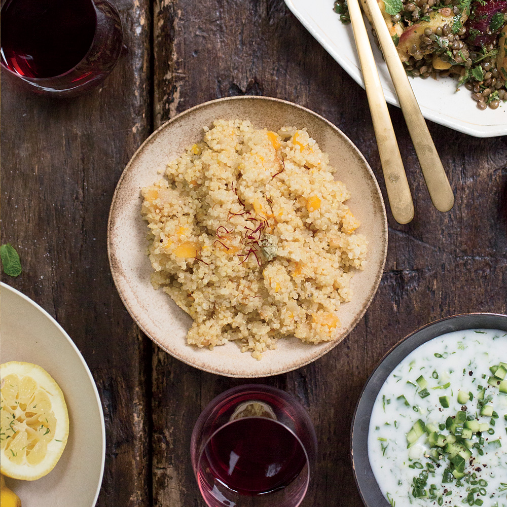 Quinoa Pilaf with Dried Apricots