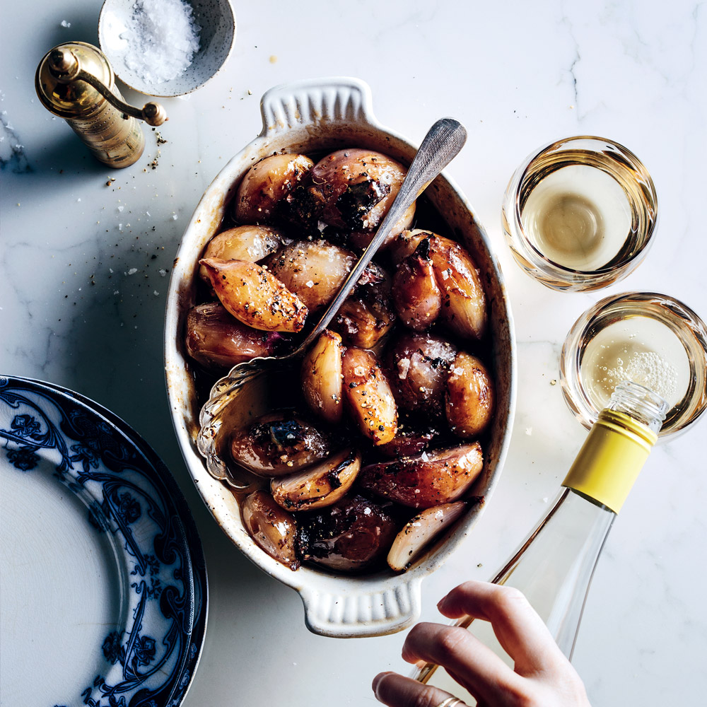Vermouth-Braised Shallots
