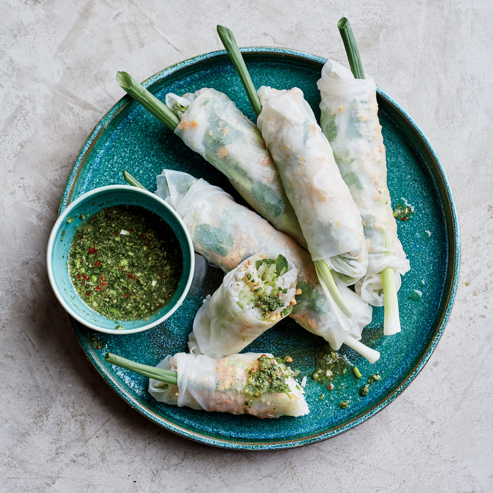 Crab Summer Rolls with Nuoc Cham Sauce