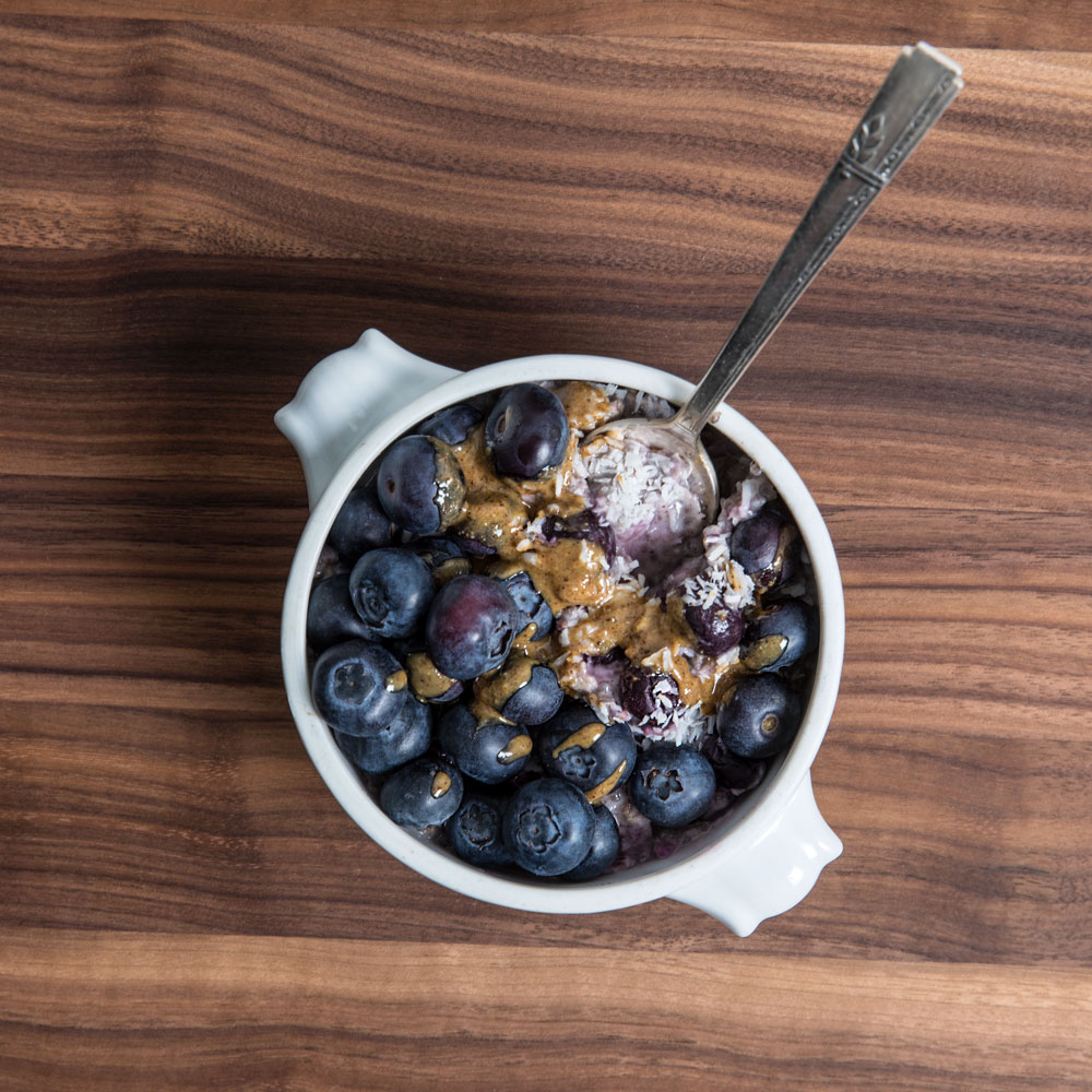 Blueberry Coconut Morning Porridge