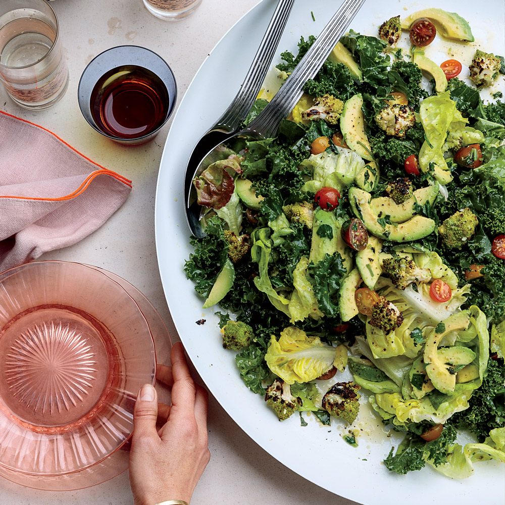 Grilled Romanesco Salad with Charred-Herb Dressing