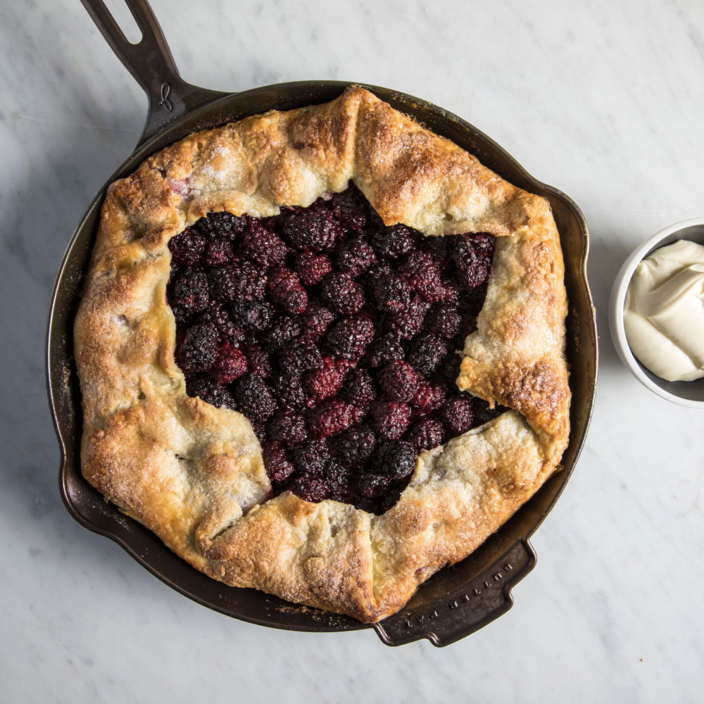 Cast Iron Blackberry Galette with Whipped Mascarpone