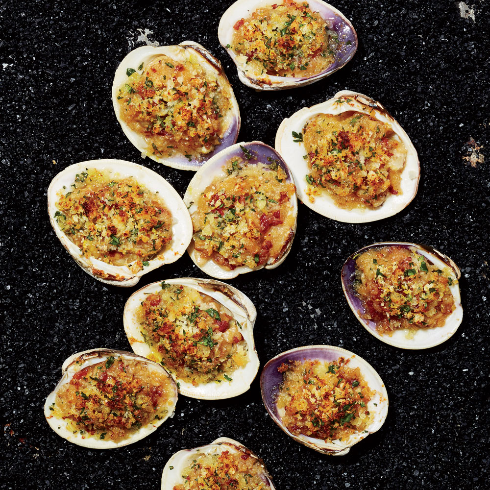 Baked Clams with Bacon and Garlic Recipe - Daniel Humm | Food & Wine