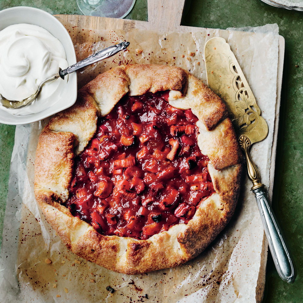 Rhubarb and Candied Ginger Crostata