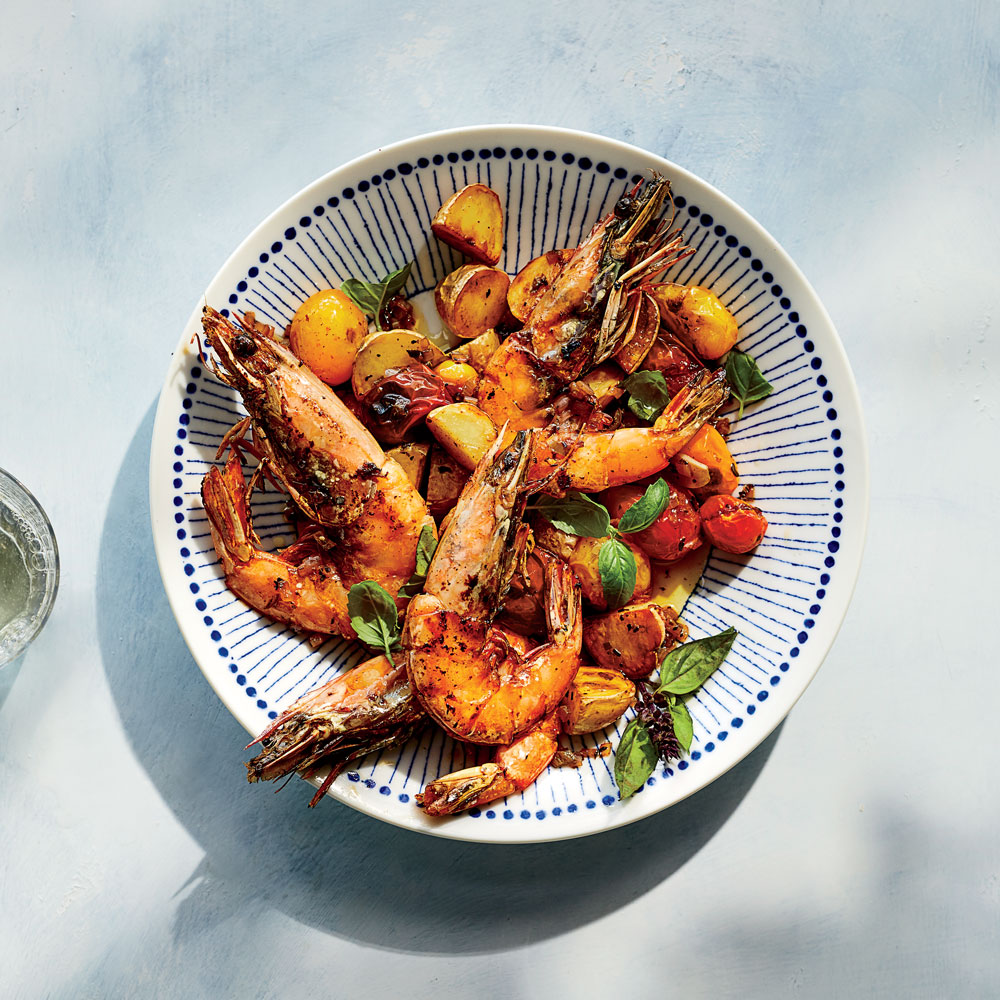 Shrimp with Potatoes and Tomatoes