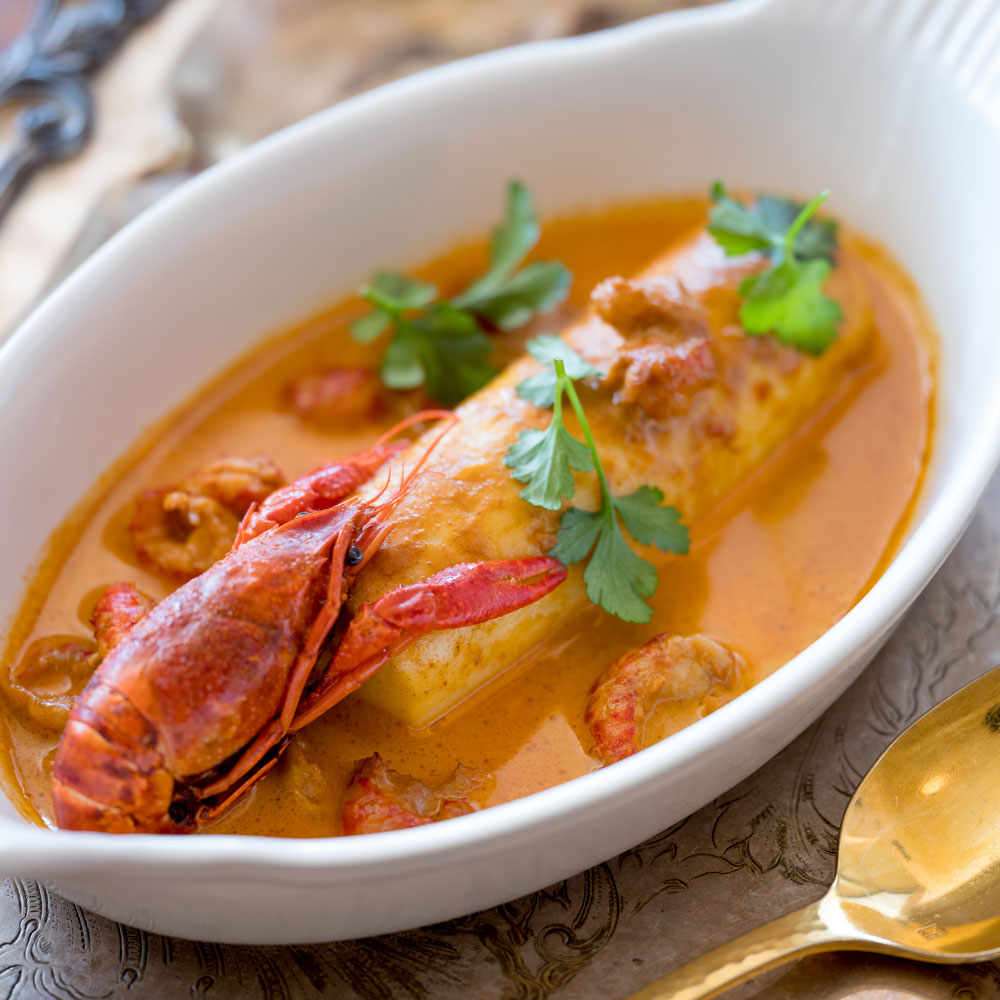 Pike Quenelles in Crayfish Sauce
