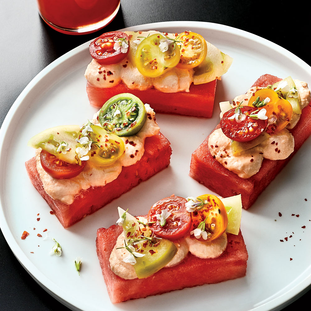 Tomato and Watermelon Bites