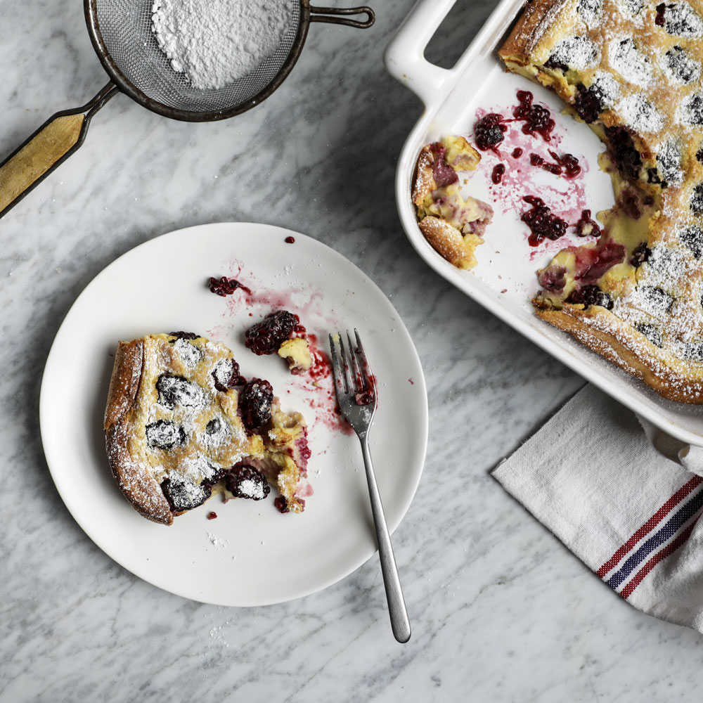 Clafoutis with Blackberries